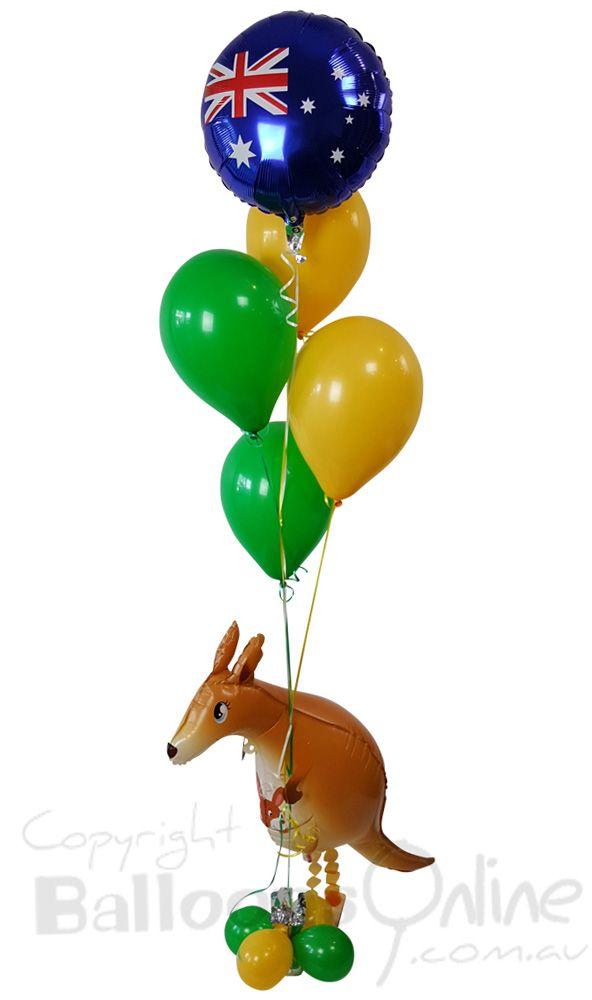 Kangaroo balloon bouquet - www.balloons.com.au