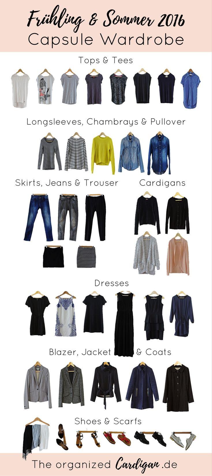 Spectacular Fr hlings u Sommer Capsule Wardrobe Minimalismus KleiderschrankMinimalistischer