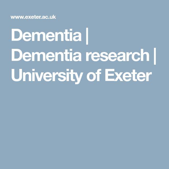 Dementia  | Dementia research | University of Exeter