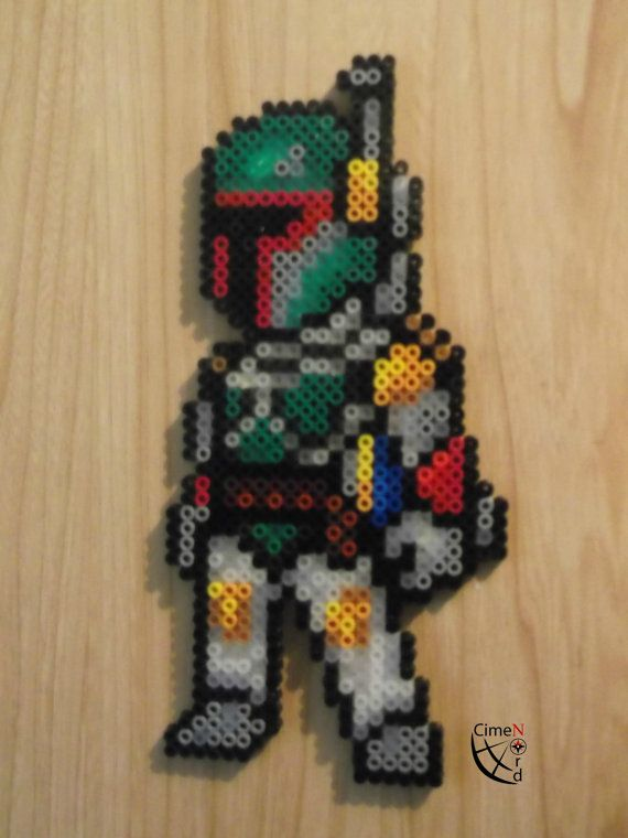 Boba Fett Perler Beads by CrazyHamaGuyBeads on Etsy
