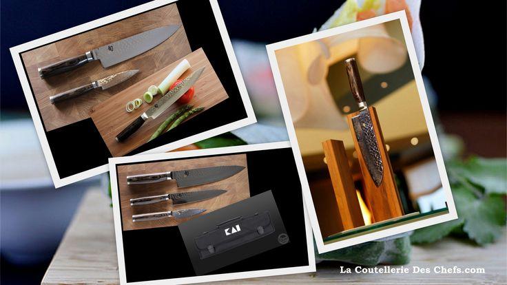 Type de fabrication : Le couteau de cuisine est  à lame et mitre forgée main (mitre finition polie) Composition d'acier : Acier inoxydable en VG10 - Damassé 32 couches - Haut de lame martelé poli Composition du manche : bois de noyer Coloris du manche : Marron foncé - Bout de la poignée en acier poli avec le logo du chef Tim Malzer Degrés de Rockwell (HRC) : 61±1 HRC http://la-coutellerie-des-chefs.com/kai-shun-premier-tim-malzer-couteau-japonais-c-218_223.html
