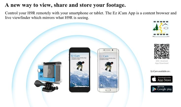 EKEN H9R Sports Action Camera 4K Ultra HD 2.4G Remote WiFi 170 Degree Wide Angle Sale - Banggood.com
