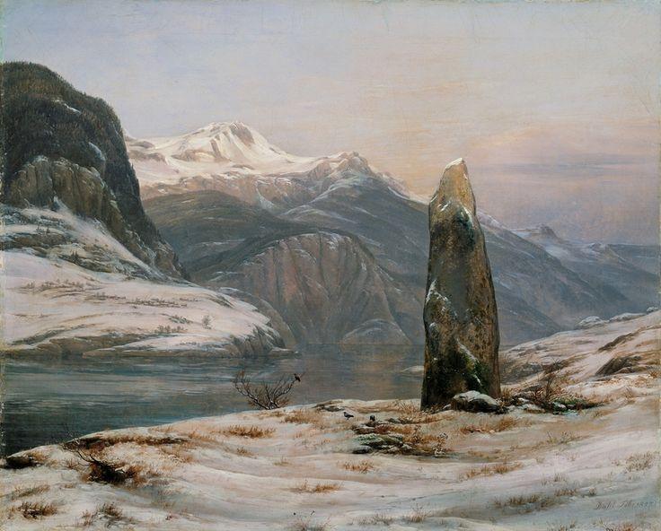 Johan Christian Dahl, Vinter ved Sognefjorden – Nasjonalmuseet – Samlingen