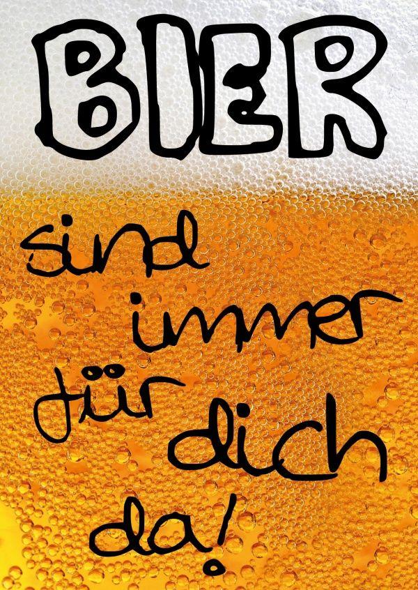 Bier sind immer für dich da! | Edgar  | Echte Postkarten online versenden | Edgar