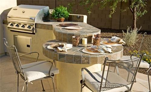 Outdoor Kitchen Bar  Outdoor Kitchen  EarthArt Landscape & Designs, Inc.  Phoenix, AZ