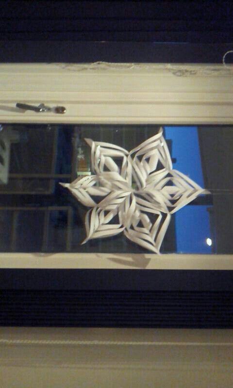 Snøfnugg av papir