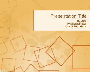Free Squares PowerPoint template over orange background slide design is a free Microsoft PowerPoint 2007 and 2010 PPT template that you can download for presentations