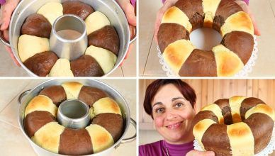 PAN μπριός BICOLORE MADE IN HOUSE - Δίχρωμο σπιτικό ψωμί Brioche