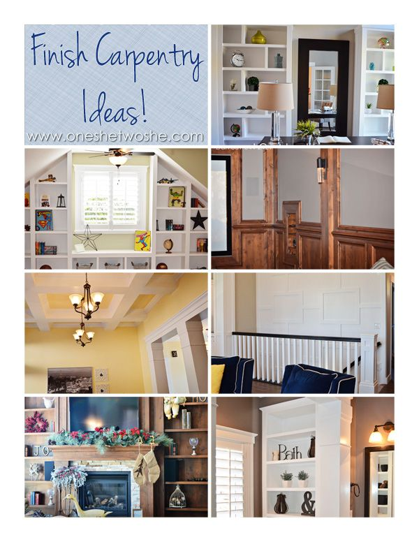 Finish Carpentry Ideas ~ Courtesy of My Husband! www.oneshetwoshe.com #finishcarpentry