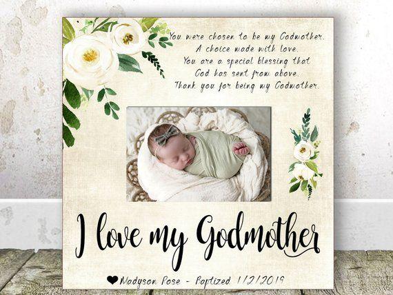 Godmother Gift Christmas Gift Godmother Frame Baptism Gift ...