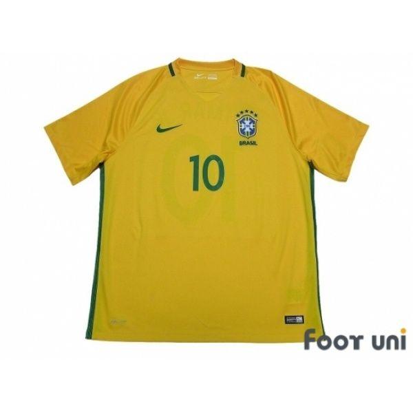 Photo1: Brazil 2016 Home Shirt #10 Neymar Jr w/tags - Football Shirts,Soccer Jerseys,Vintage Classic Retro - Online Store From Footuni Japan