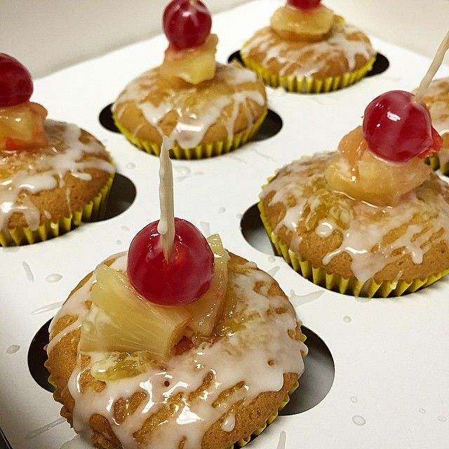 Glaze made with pineapple vodka and pineapples and cherries soaked in pineapple rum!!