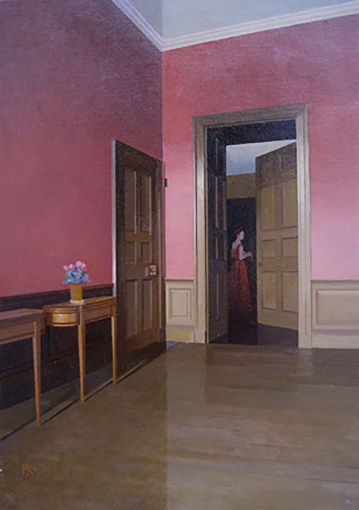 'The Door to the Library' by Peter Kelly Oil on Canvas Board: 50 x 35 cm Signed