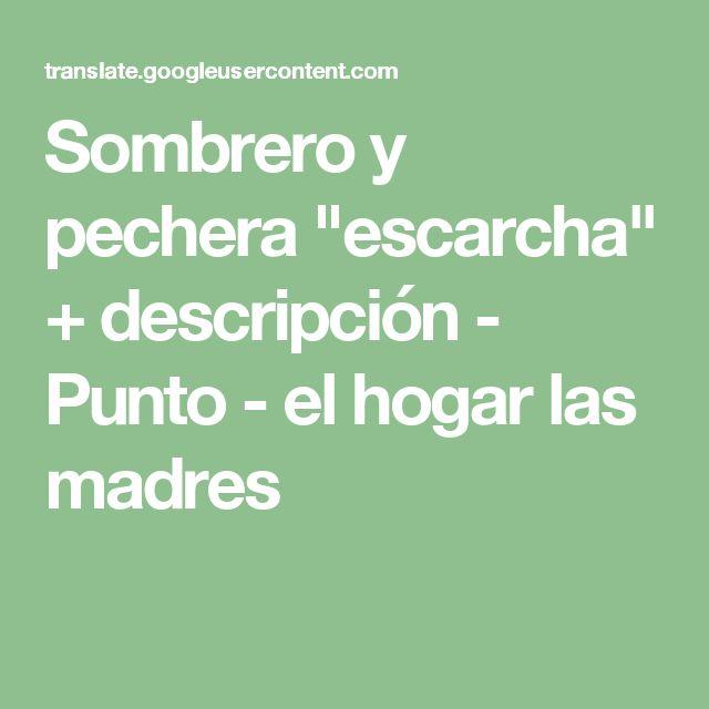 """Sombrero y pechera """"escarcha"""" + descripción - Punto - el hogar las madres"""