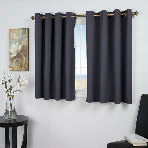 Ultimate Blackout 45-inch Length Grommet Curtain Panel By