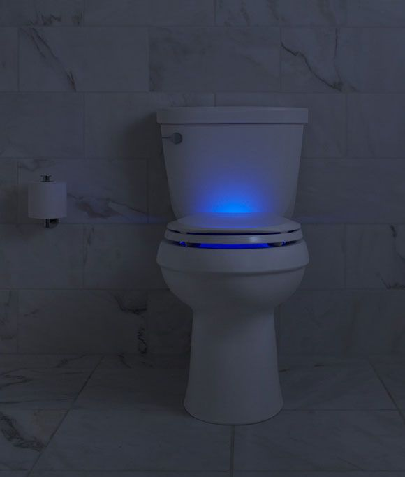 Kohler is introducing a night-light equipped toilet. Tell me you don't love this! (and why hasn't it been done before now?) Best New Products from IBS and KBIS 2014