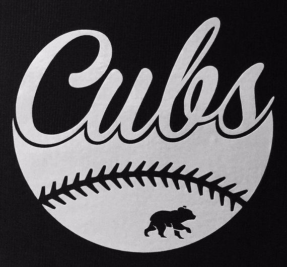 Chicago Cubs Baseball Vinyl Decal Bumper by GetBlastedDesigns