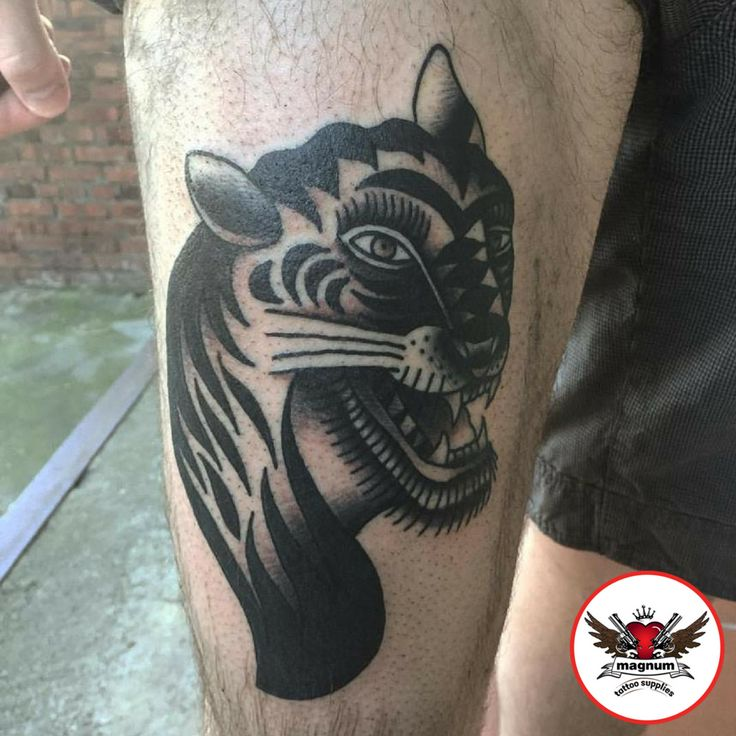 Mike C Davies Tattooer did this fierce piece made with #magnumtattoosupplies 👌🏿👌🏿👊🏿