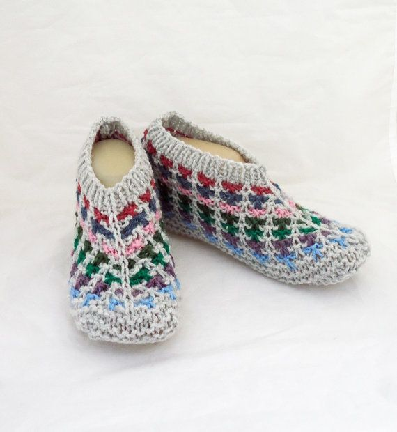 Women Slippers Knit Women Home Slippers.Short Socks by evefashion
