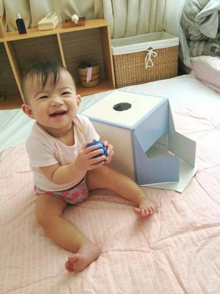 DIY Object Permanence Box-such and important milestone. MUST MAKE!!