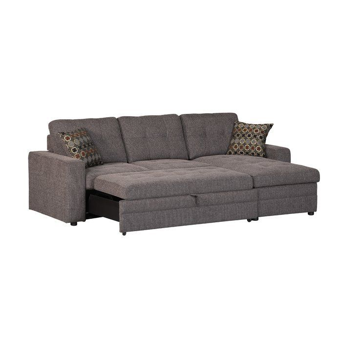 Chanelle Right Hand Facing Sleeper Sectional With Ottoman Sectional Bed Sectional Sleeper Sofa Gus Sectional