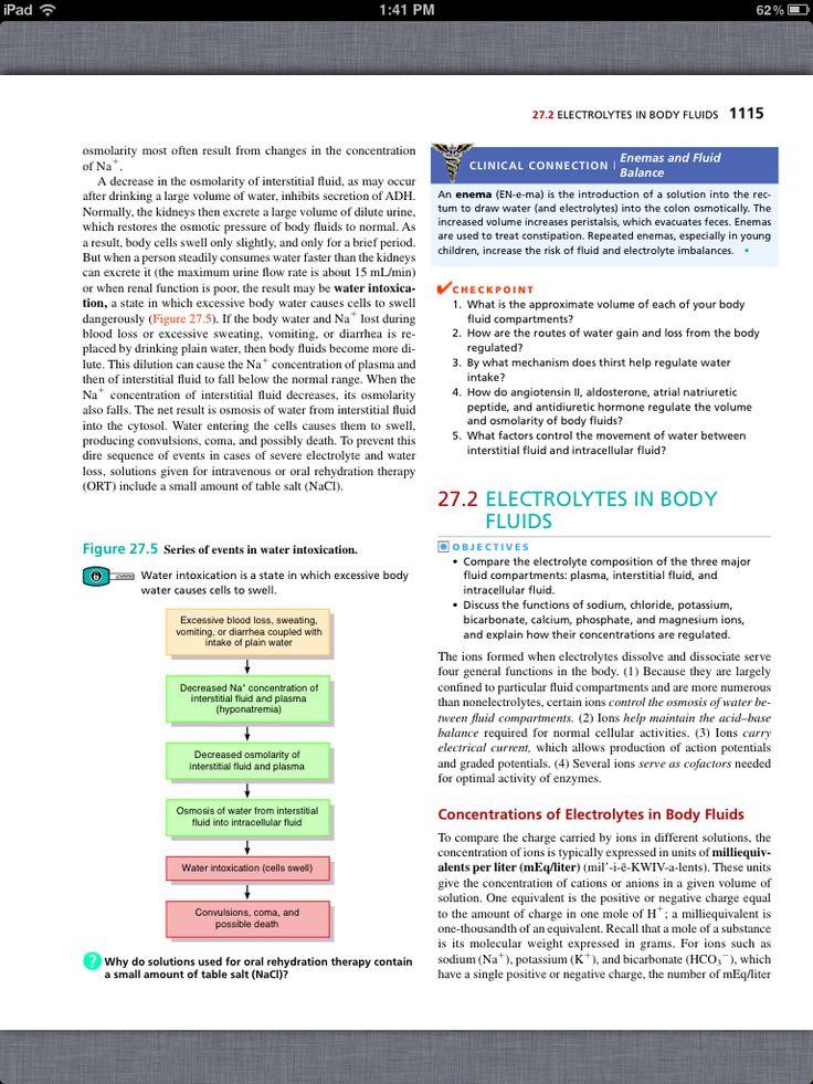 20 best Chapter 27, Fluid, Electrolyte, and Acid–Base Homeostasis ...