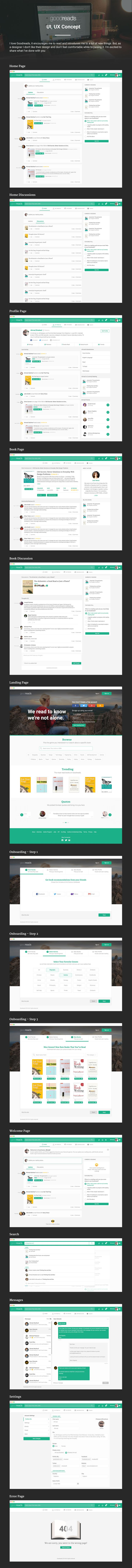 Goodreads is a well known website for people who love reading. In this project, I tried to make the look and feel cleaner and more elegant. Hope you like it. :)