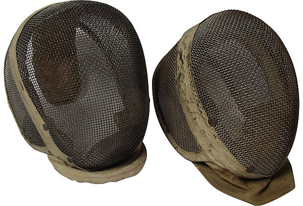 Fencing Masks, Pair on OneKingsLane.com