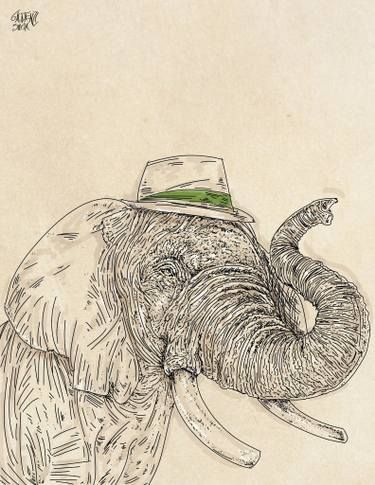 elephant with hat