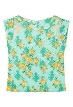 Blusa abacaxi Nica Kessler - verde