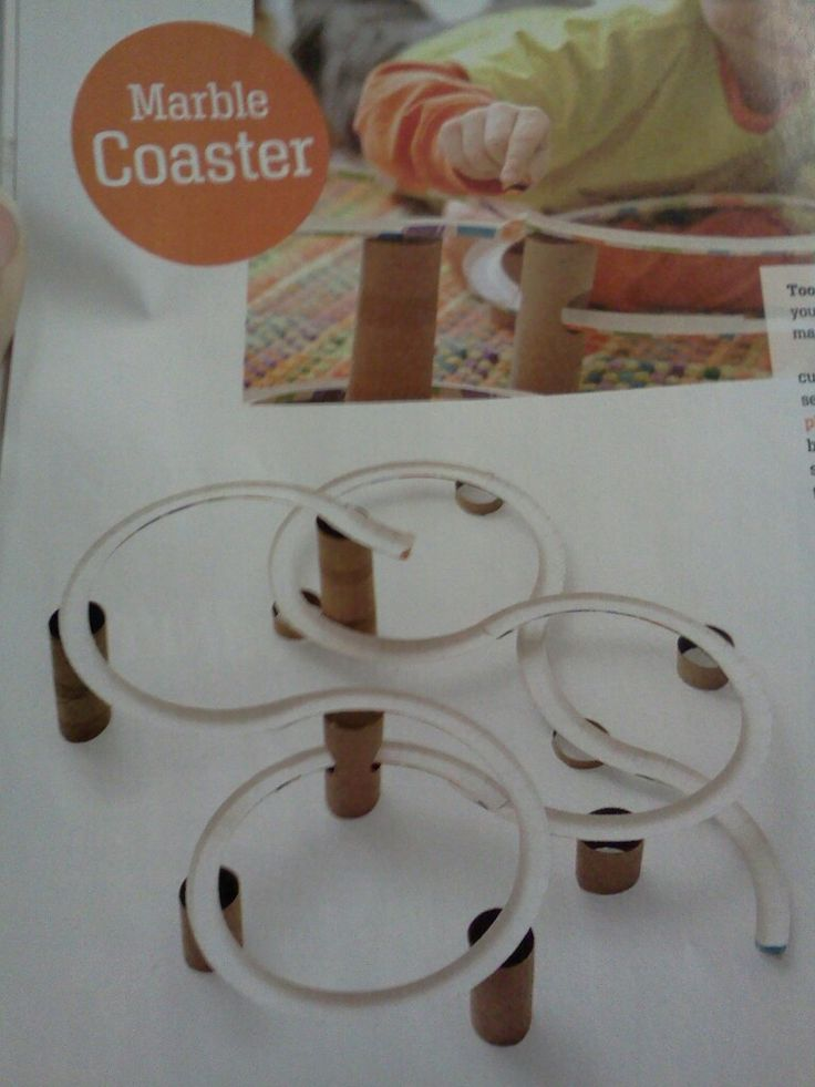 Paper Plate And Toilet Paper Roll Marble Roller Coaster