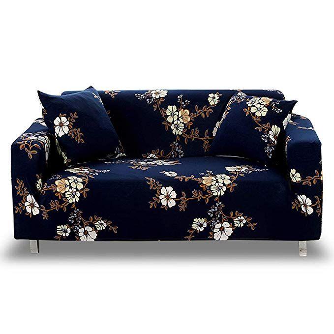 Amazon Com Hotniu Stretch Sofa Slipcover 1 Piece Polyester