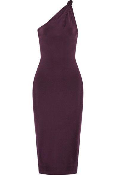 Cushnie et Ochs - One-shoulder Stretch-jersey Dress - Grape