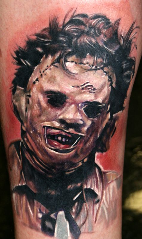 leatherface horror tattoo design texas chainsaw massacre tattoos pinterest tattoo designs. Black Bedroom Furniture Sets. Home Design Ideas