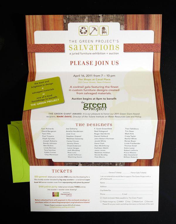 SalvationsCocktail Gala: Event Logo, Identity and Invitation Set