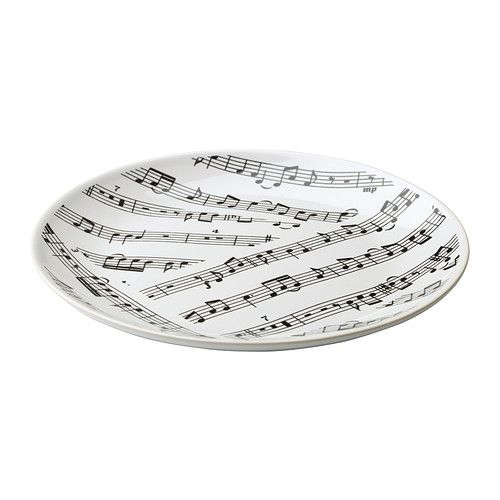 music note plates @ IkeaMusic Note