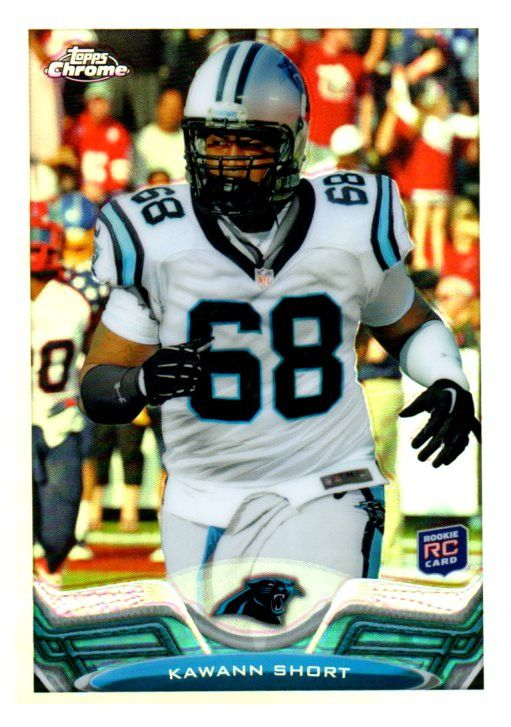 2013 Topps Chrome Kawann Short Refractor Rookie Card Carolina Panthers