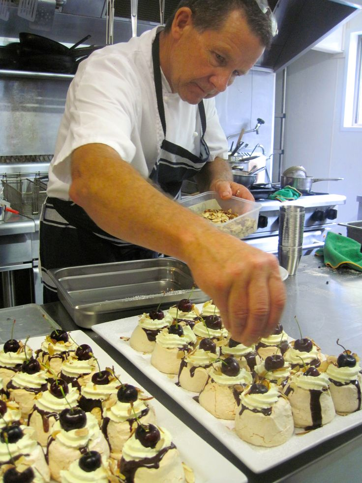 Chef hard at work making delicious deserts for our tums!