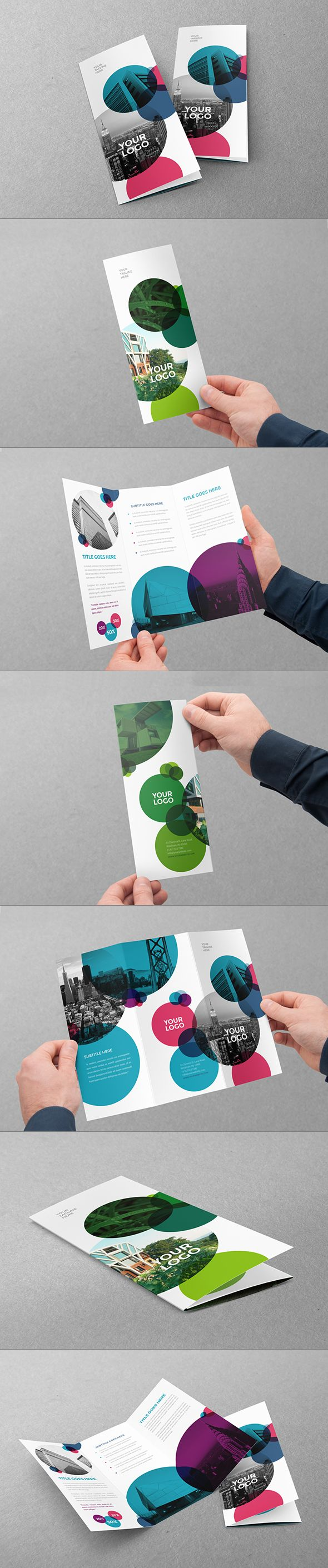 Cool Ecologic Circles Trifold on Behance