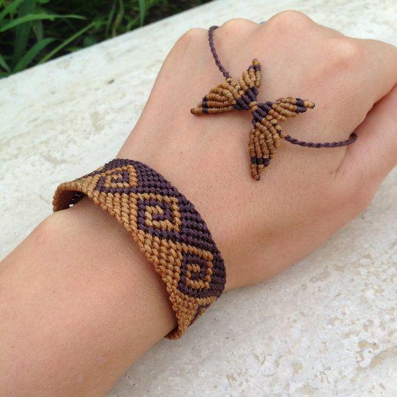 Endless wave macrame bracelet Mens bracelet by ARTofCecilia, $35.00