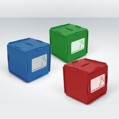 Promotional Recycled Money Box Cube - Recycled Material Flat packed :: Promotional Piggy Banks :: Promo-Brand Promotional Merchandise :: Promotional Branded Merchandise Promotional Products l Promotional Items l Corporate Branding l Promotional Branded Merchandise Promotional Branded Products London