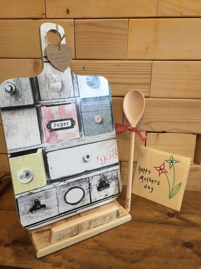 Mother's Day Gift set - cookbook stand wooden spoon and card  £19.95
