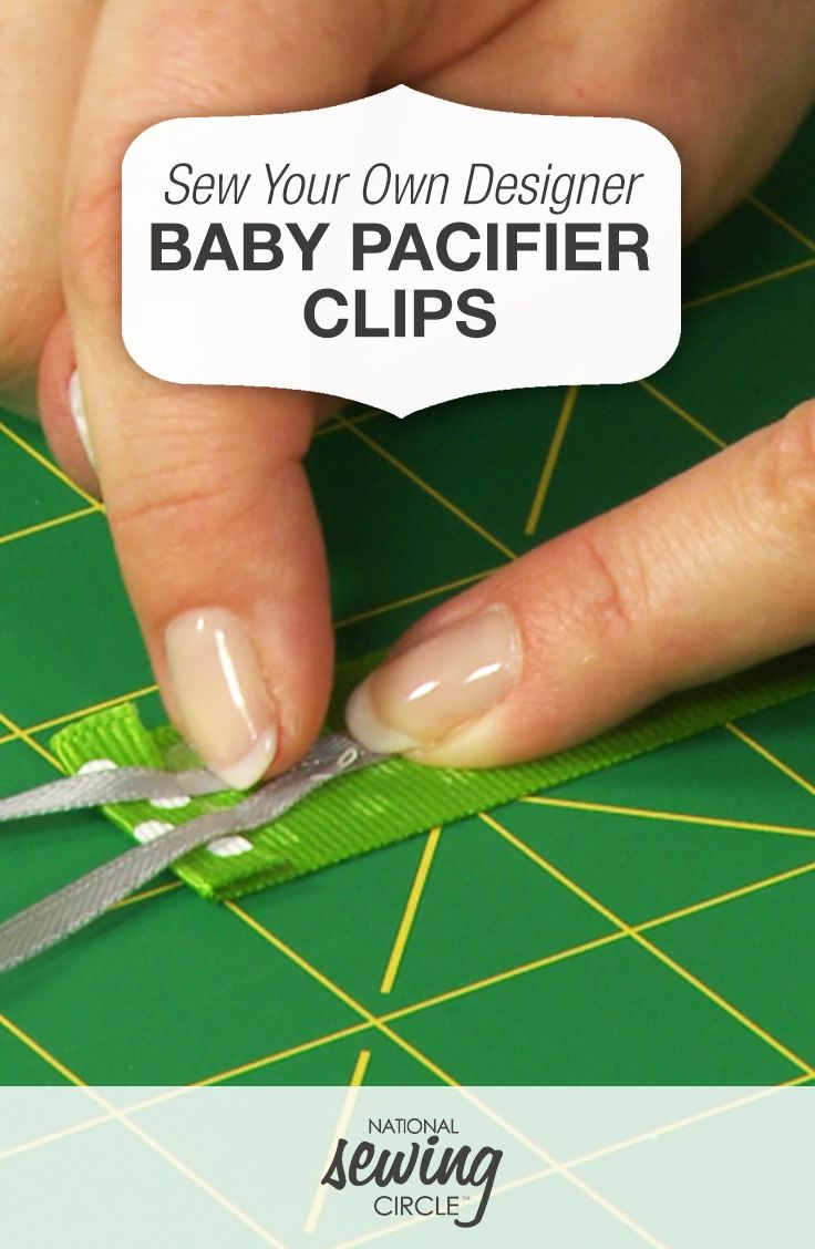 Sew Your Own Designer Baby Pacifier Clips   National Sewing Circle