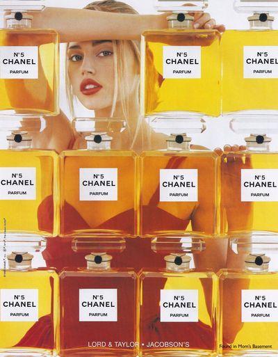 Estella Warren in a 1998 Chanel No. 5 fragrance ad