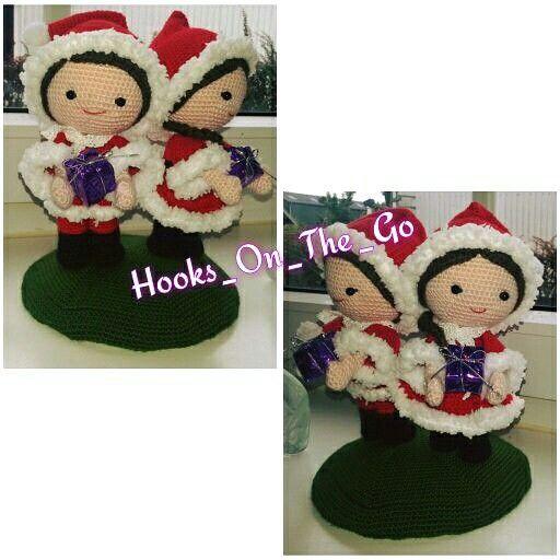 Amigurumi christmas doll