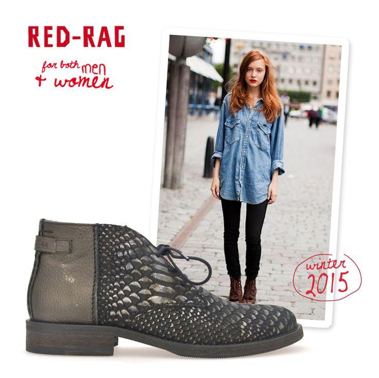 How to wear: Red-Rag desert boots. Combineer ze met een stoere jeans en eenvoudige blouse dit najaar.