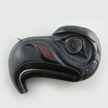 Argillite Haida Eagle Crest Pendant by Darrell White