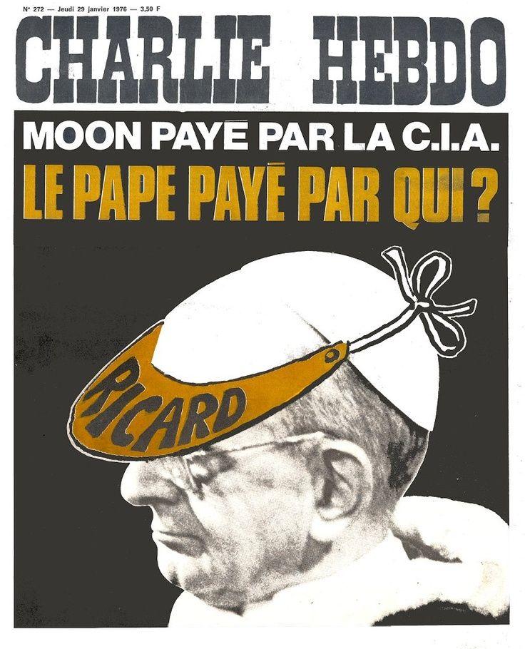 Charlie Hebdo - # 272 - 29 Janvier 1976 - Couverture : Collectif et Photo du Pape