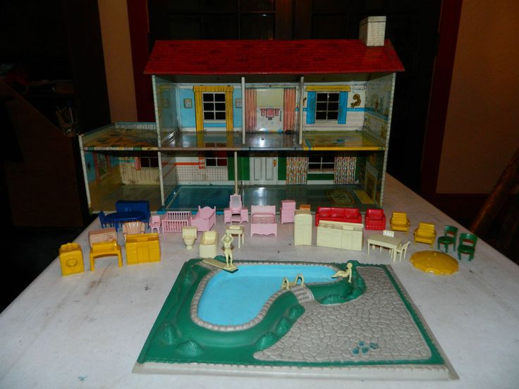 17 Best Images About Vintage Tin Doll Houses Marx On Pinterest Outdoor Swimming Pool Model