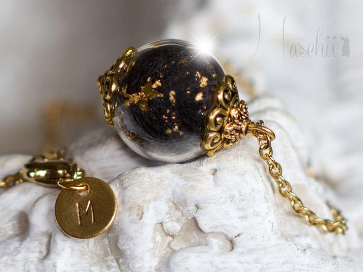 Goldketten - 18K Tierhaar Halskette 24 Karat Blattgold - ein Designerstück von Haschii bei DaWanda